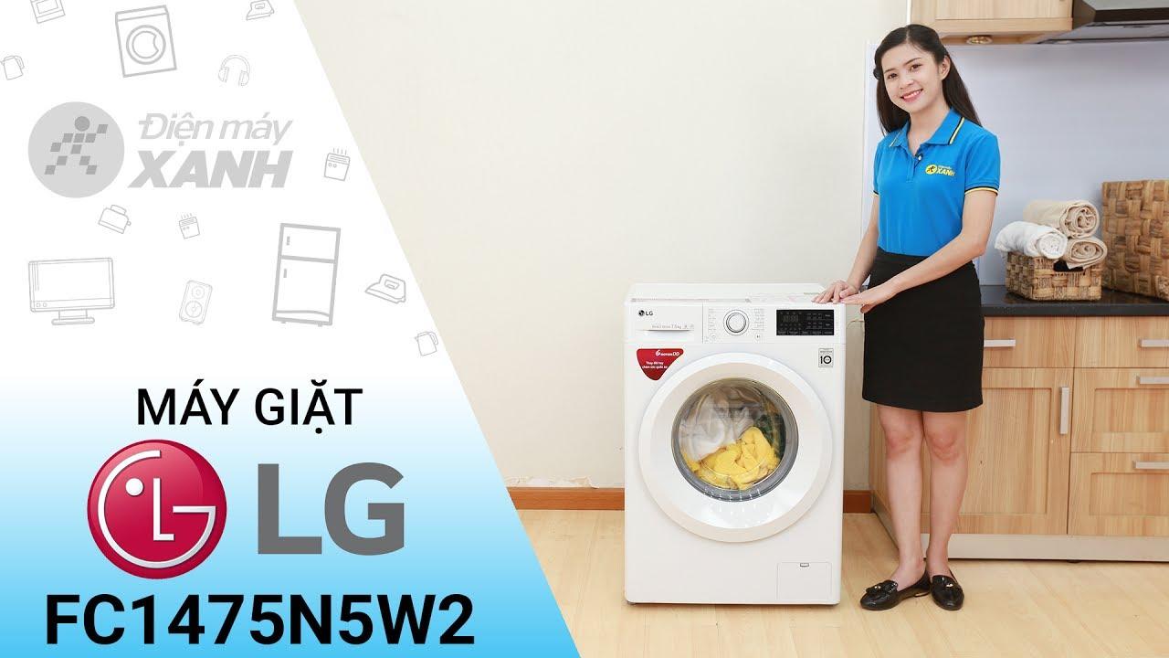 Máy giặt lồng ngang LG FC1475N5W2, 7.5kg, Inverter