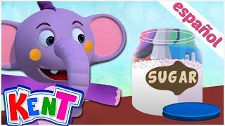 Canciones infantiles animadas   Johny Johny, sí papá   Kent el elefante