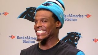 Cam Newton LAUGHS at Female Reporter for Talking About Wide Receiver Routes