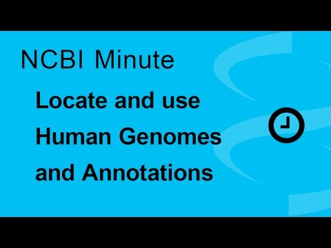 NCBI Minute: How to Locate and Use Human Genomes and Annotations from the NCBI