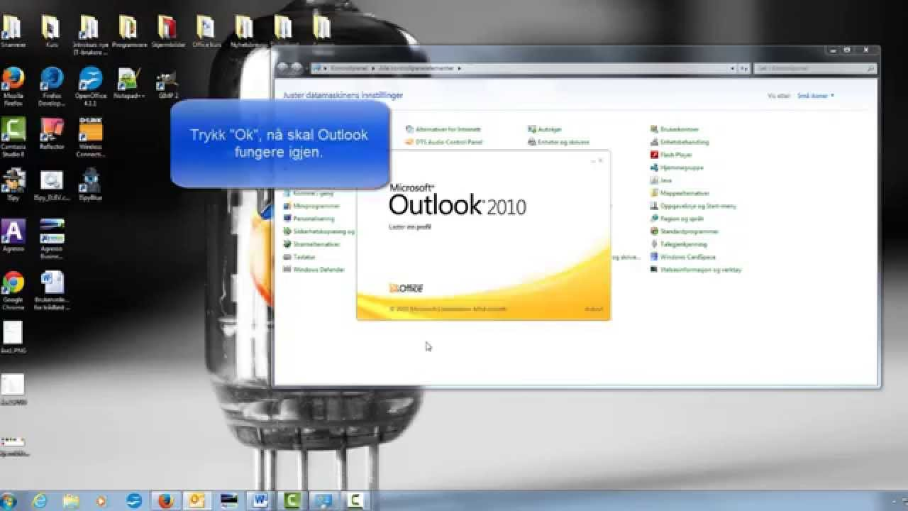 outlook starter ikke