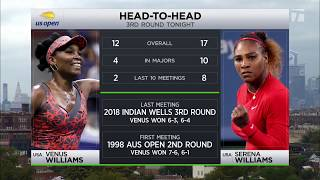 Tennis Channel Live 2018 US Open: Serena & Venus Williams Meet For 30th Time