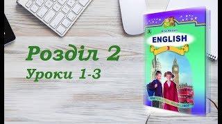 Англійська мова (3 клас) Алла Несвіт / Розділ 2 (Уроки 1-3)