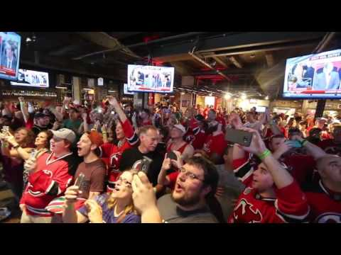 Devils fans in Newark react to the team picking Nico Hischier with the No. 1 pick of 2017 NHL Draft