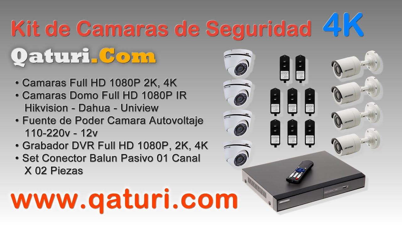 Hikvision Kit de Camaras de Seguridad Full HD 1080P Dahua 2019 Peru Venta