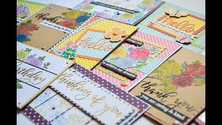 10 Handmade cards, 1 Homemade kit (April 2020 version) Process video #1