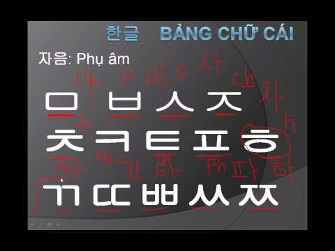Học tiếng Hàn (bảng chữ cái #2)