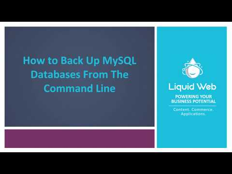 How To Backup And Restore Databases From The Commandline.