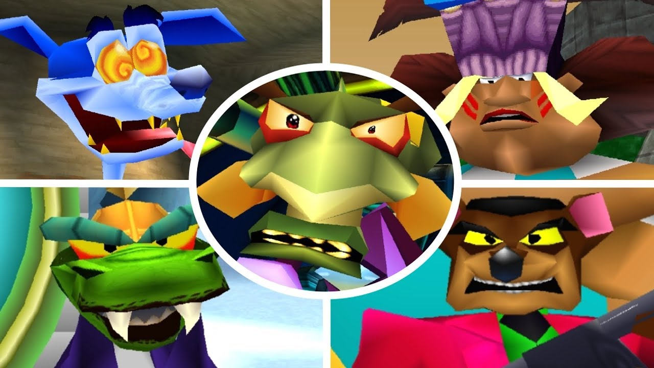Crash Team Racing - All Boss Races + Cutscenes