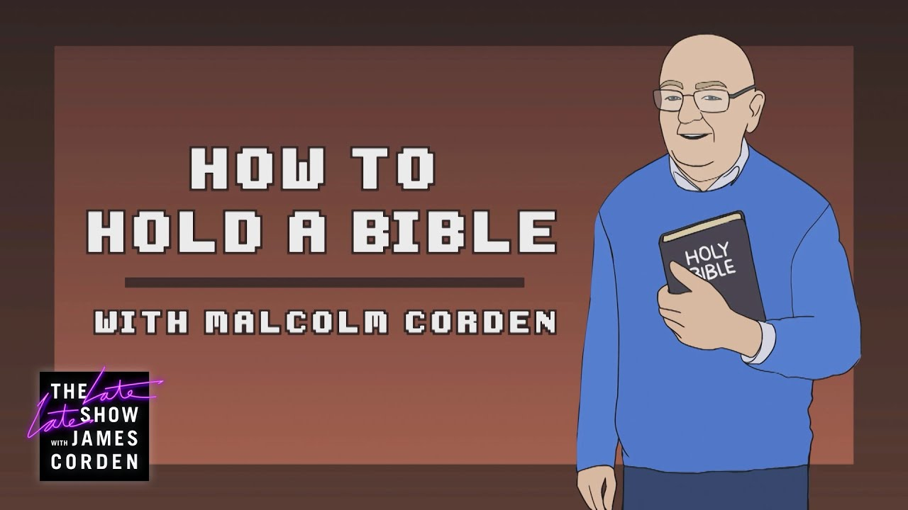 Malcolm Corden Teaches Donald Trump How To Hold the Bible