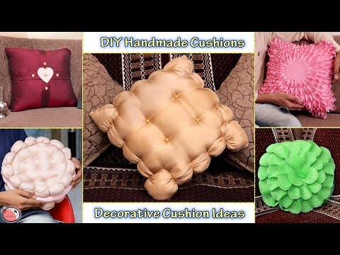 5 Beautiful Handmade Cushion Making Ideas !!! DIY Cushion