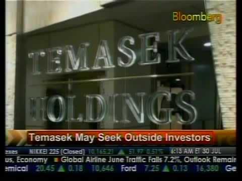 Temasek May Seek Outside Investors - Bloomberg