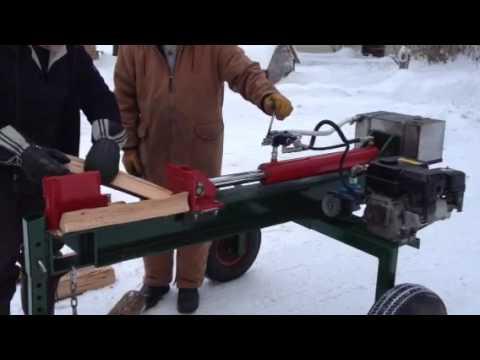 Homemade log splitter with a vane pump