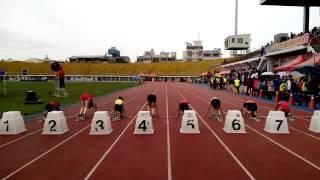 105年 台中市國小田徑錦標賽,國小女童60公尺決賽,第四道 南陽國小 蔡佩辰 成績8秒24