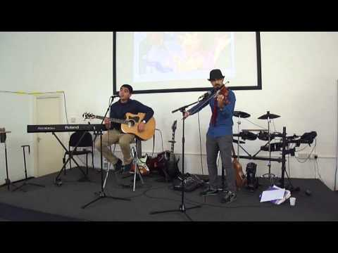 Santiago Bonifaz & Amir Shahba - Sure Thing by Miguel (Violin and Guitar Cover) 2014