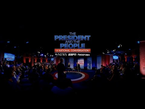 Watch President Obama Speaks to Officer Edward Flynn at Town Hall in VR   ABC News #