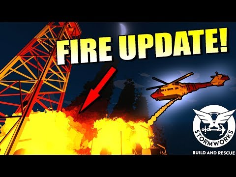 HELICOPTER FIRE RESCUE! [Fire Update] - Stormworks: Build and Rescue Gameplay