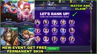 NEW EVENT GET FREE PERMANENT SKIN LET'S RANK UP | MOBILE LEGENDS