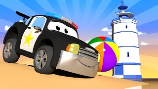 Auto Patrola u Auto Gradu 🚓 🚒  Ljetni Specijal - Nedjeljni Sladoled -  Crtani sa kamionima za djecu