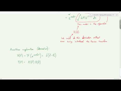 Transfer Function and Fourier Properties