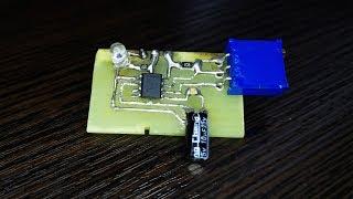 Генератор импульсов 1 Гц (2 Гц) на NE555. Обзор. Демонстрация работы