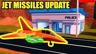 [GUIA COMPLETO] NOVA delegacia de polícia e JET mísseis UPDATE | Roblox jailbreak Update novos códigos