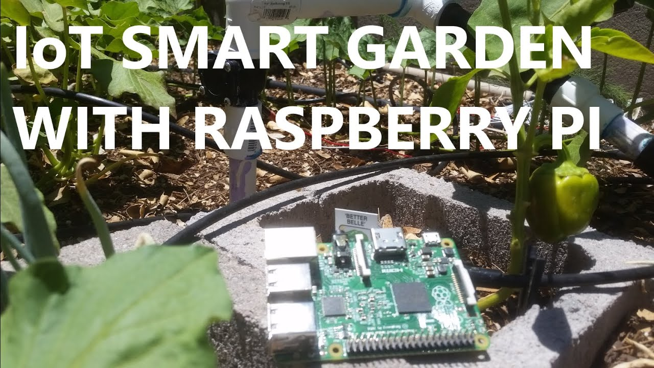 IoT smart garden using Raspberry Pi and smart phone - YouTube