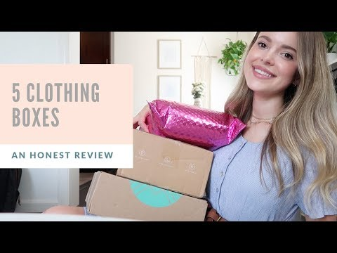 Opening & Comparing 5 Clothing Subscription Boxes!