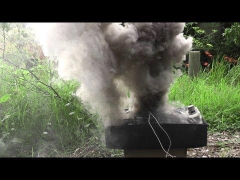 TV cathode ray tube explodes