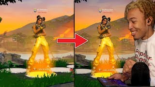 Using The Highest Graphics on Fortnite Mobile! (Looks Like PC)