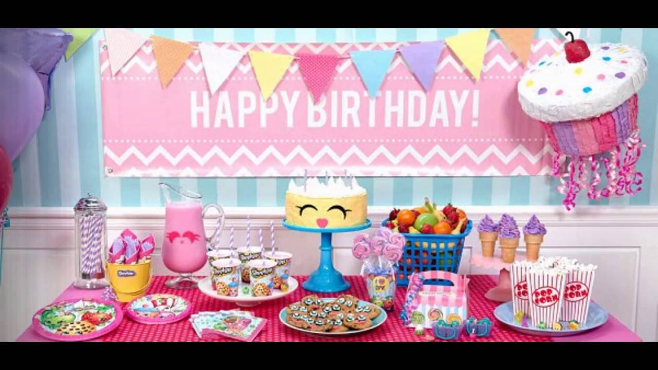 Girls birthday party themed decorating ideas - YouTube
