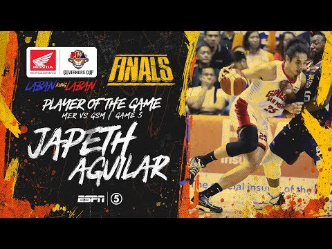 Best Player: Japeth Aguilar   PBA Governors' Cup 2019 Finals