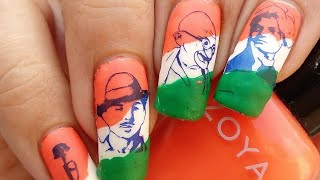Indian Independence Day Nail Art Tutorial!!! 🇮🇳🇮🇳