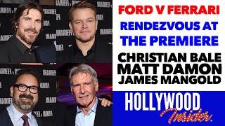 Rendezvous At The Premiere Of Ford V Ferrari Christian Bale Matt Damon James Mangold Reactions Youtube