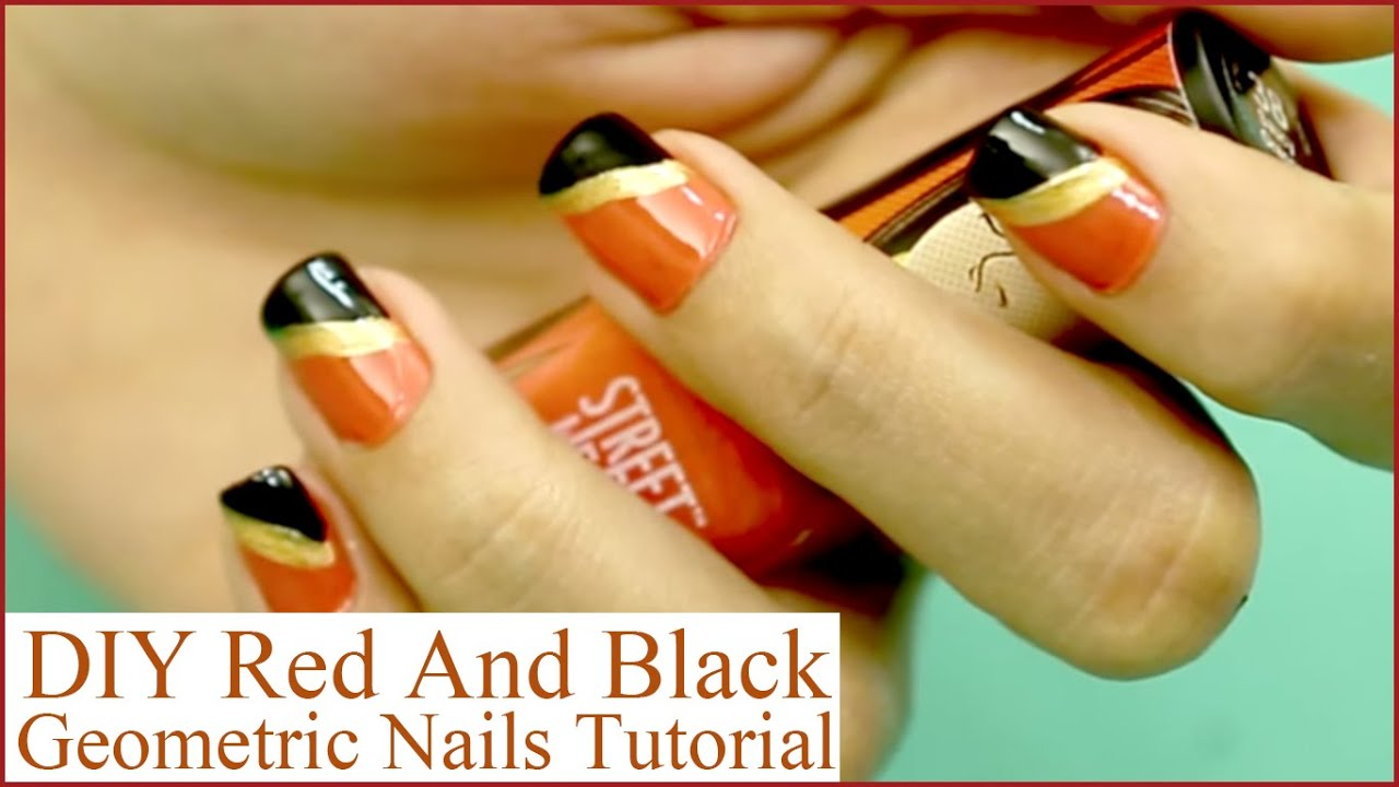 DIY - Orange And Black Nails Design That You Can Do Today - DIY - Orange And Black Nails Design That You Can Do Today - YouTube