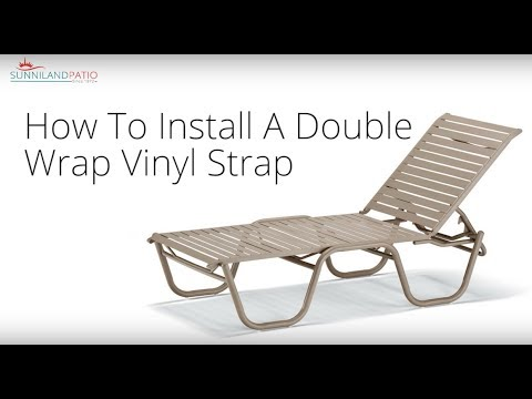 how to install a double wrap vinyl strap