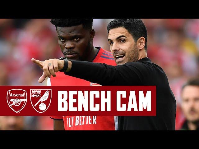 BENCH CAM | Arsenal vs Norwich (1-0) | Back to winning ways at Emirates Stadium
