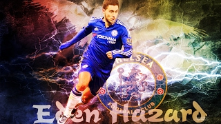 Tutorial Photoshop :  Editing Wallpaper Eden Hazard Chelsea