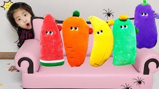 야채필통안에는 무엇이 들어있을까요? 서은이의 요정 야채필통 그리기 놀이 바나나 수박 당근 Vegetable Pencil Case of Fairy Seoeun Story