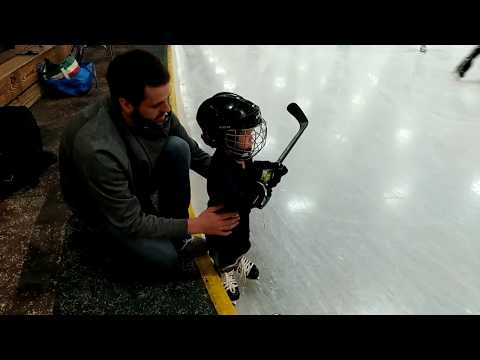 Toddler First Time Skating Love you buddy