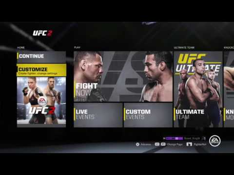 HOW TO USE CREATED FIGHTER ONLINE | UFC 2 | TUTORIAL