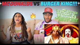 "Epic Rap Battles of History ""Ronald McDonald vs The Burger King"" REACTION!!!"
