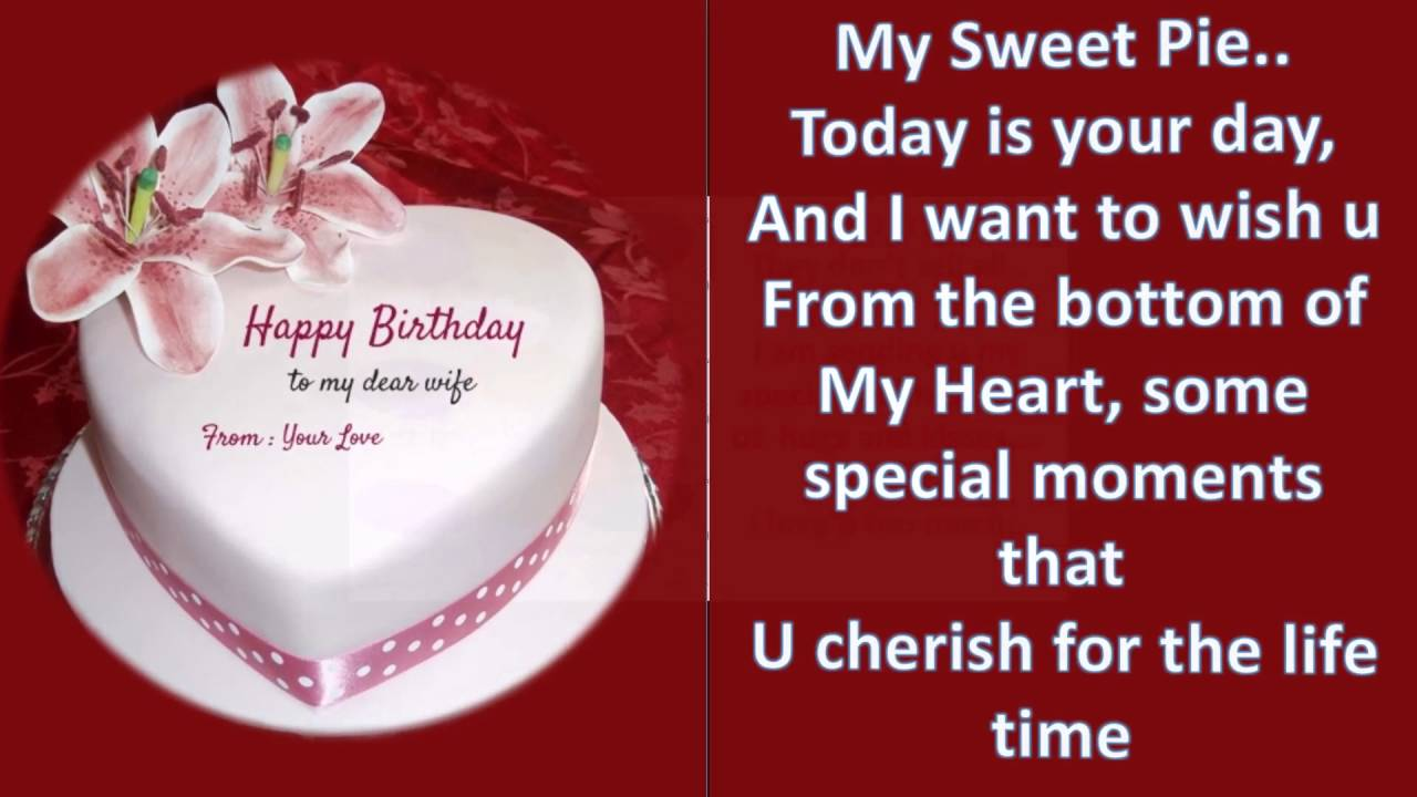heartfelt birthday message wishes and greetings to wife from husband