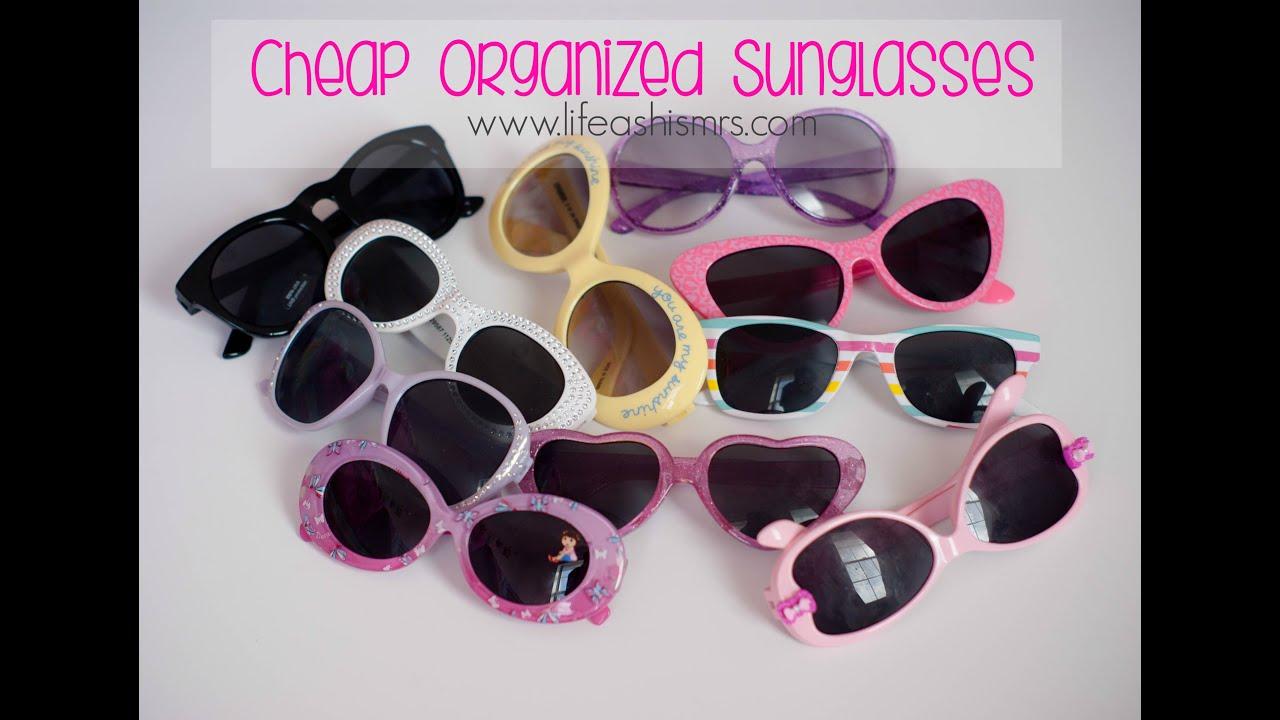 A Cheap Way To Organize Sunglasses | LifeAsHisMrs