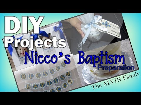 DIY PARTY FAVORS, BACKDROP & NAKED CAKE | Nicco's Baptism Preparation| theALVINfam