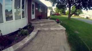 Interlock Walkway with Large Stone Steps - Nepean Ontario