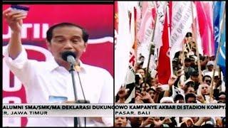 50 Ribu Alumni SMA/SMK Jember Dukung Jokowi | Prabowo Kampanye di Bali - Pemilu Rakyat 26/03
