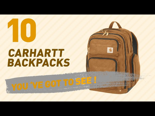 8689f41ee Top Backpacks By Carhartt // New & Popular 2017 - YouTube