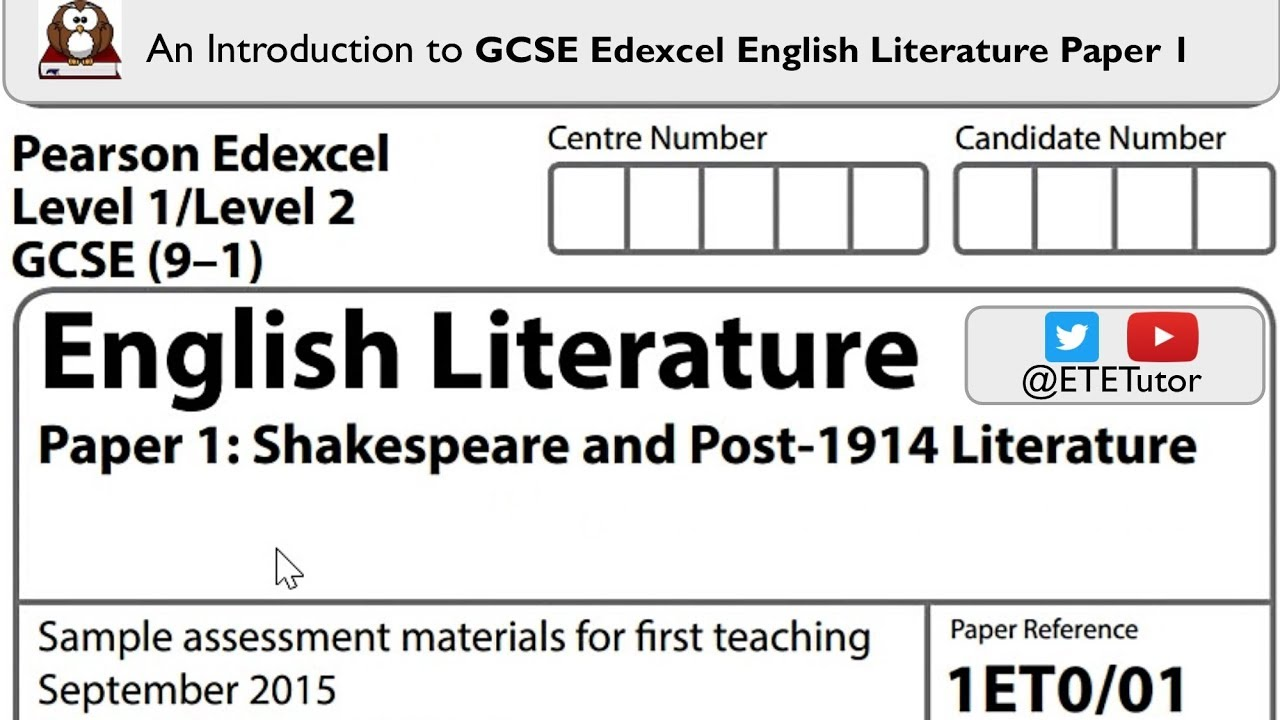 Gcse Edexcel English Literature Paper   An Introduction  Youtube Gcse Edexcel English Literature Paper   An Introduction