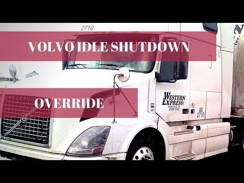 Idle shutdown override for Volvo truck.